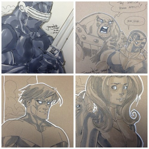 jeremydale:  #FCBD sketches by #jeremydale @acmecomics part 3