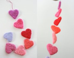 prettylittlepieces:  Felted Heart Garland