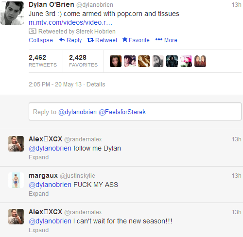 breenwolf:  there are three kinds of dylan o'brien fans………..