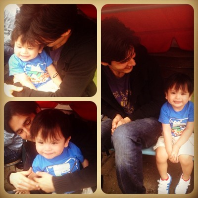 Baby Tyler with Tito Jiwan. Kulet lang! 😄 #cute #Sunday