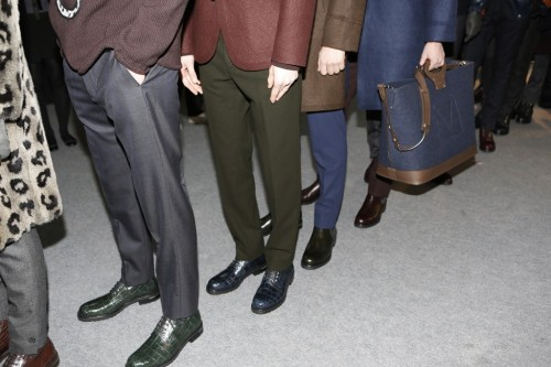 Footwear Highlights from Paris Men's Fashion Week Backstage at Louis Vuitton Fall 2013
