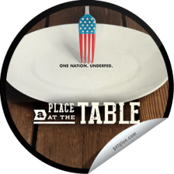 I just unlocked the A Place at the Table sticker on GetGlue                      2298 others have also unlocked the A Place at the Table sticker on GetGlue.com                  From the team that brought you Food, Inc. The film that asks why 50 million Americans live on the brink of hunger. Find out what this movie has to bring to the table. Be sure to see A Place at the Table. Now playing in theaters.  Share this one proudly. It's from our friends at Participant Media.