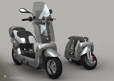 A Scooter That Folds Into a Carry-on Luggage | EarthTechling Xor Motors, based in Aix-en-Provence, France, is – at first glance – just another electric scooter manufacturer. But it offers a twist. As can be seen seen in this video, the Xor X02 electric scooter can actually be folded small enough to be rolled away by it rider.
