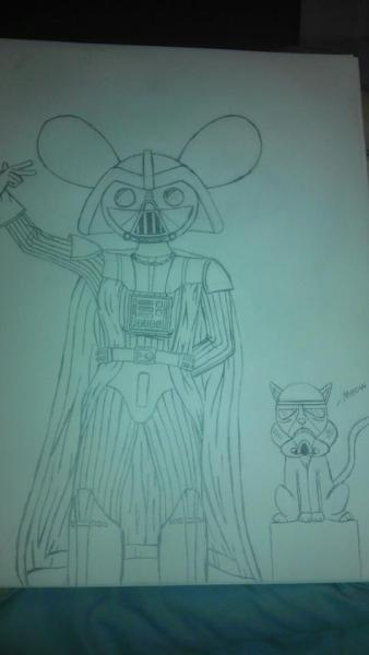 dhbrosky:  Darthmau5 and Meowingtrooper I drew this myself hope you guys like it XD