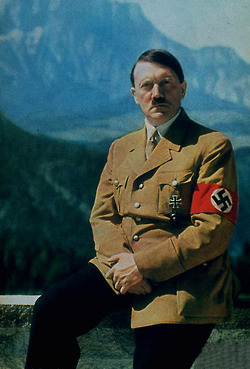 hitler's haircut was weird and he probably would have looked better if he was bald
