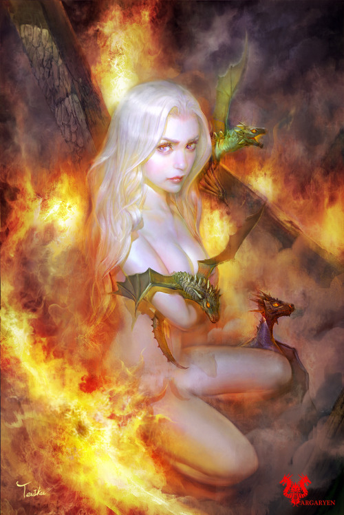 illustrateyourworld:  Daenerys Targareyen by ~TeiIku