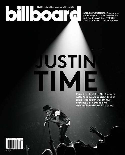 Justin on the cover of�Billboard!