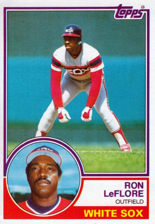 Random Baseball Card #2277: Ron LeFlore, outfielder, Chicago White Sox, 1983, Topps.