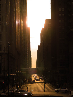 capturedbysam:  Sunset in Chicago