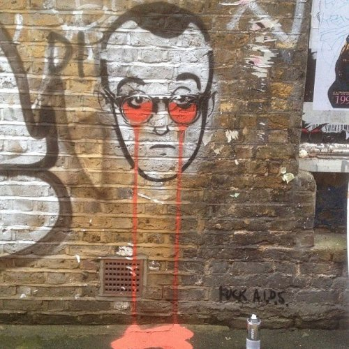 Keith Haring's Nightmare, Pure Evil. London.