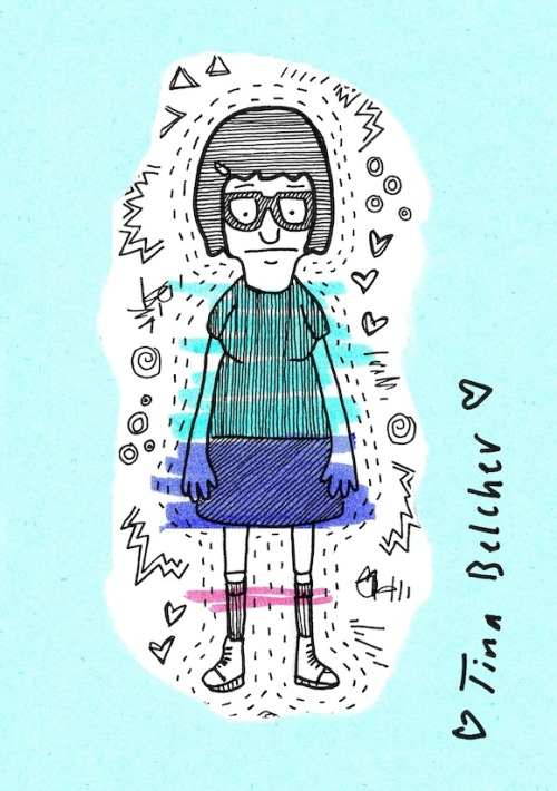 Hero Status: Tina Belcher She's a strong, sensual woman. Illustration by Caitlin.