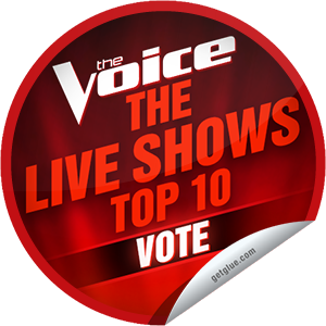 I just unlocked the The Voice Season 4: Top 10 Performances sticker on GetGlue                      6171 others have also unlocked the The Voice Season 4: Top 10 Performances sticker on GetGlue.com                  The top 10 take the stage tonight! Who are you voting for? Thanks for tuning into The Voice tonight! Keep watching on Mondays and Tuesdays at 8/7c on NBC. Share this one proudly. It's from our friends at NBC.