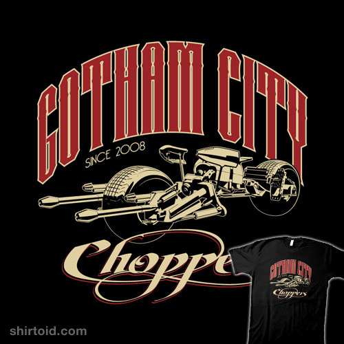 shirtoid:  Gotham City Choppers by Steve Thomas is available at WeLoveFine
