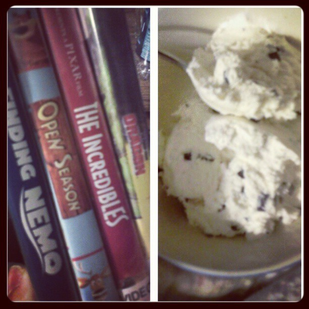 I've cream and animated movies tonight. because i have the diet and mentality of a 7 year old