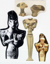 Clay Statues from Sumer 3300 BC depicting #ReptillianHumanHybrids
