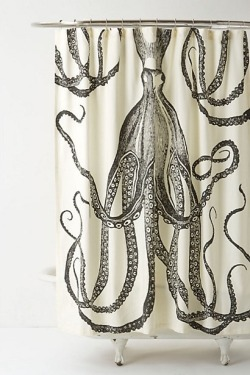 firsthome:  octopus shower curtain