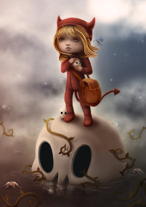 deviantart:  The oddly charming illustrations of *liransz.