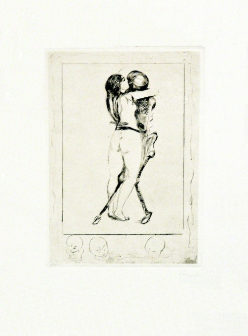 Edvard MunchDøden og kvinnen (Death and the Woman), 1894Drypoint printed in black ink