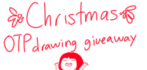 ibiscolors:  Hey so in a couple of hours its christmas and i still have time so i'm doing this really fast christmas giveaway!!! You will win a drawing of you OTP!!! like the examples above, colored and everything nice. RULES: reblog and like ONE TIME. Not multiple reblogs please. Giveaway ends at 12 PM (Central Time Zone GMT -6) and thats it GOOD LUCK AND MERRY CHRISTMAS!!!
