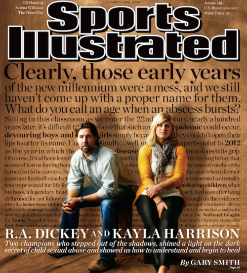 R.A. Dickey featured on SI cover confronting sexual abuse Read: Metsblog