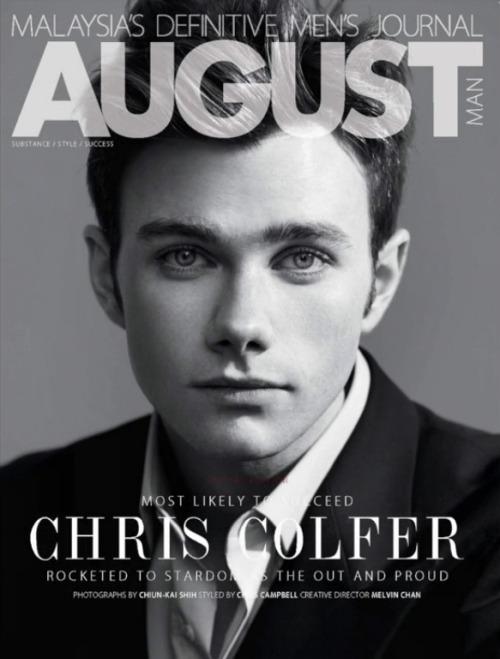 Chris Colfer for August Man Malaysia Tumblr_mh8fvt641C1qhb8mso1_500
