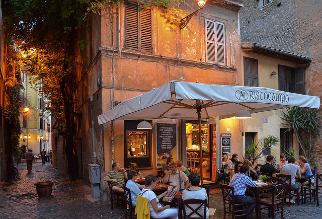 | ♕ |  Ristocampo in Trastevere, Rome  | by © macsoapy | via ysvoice  My fav image of Trastevere.