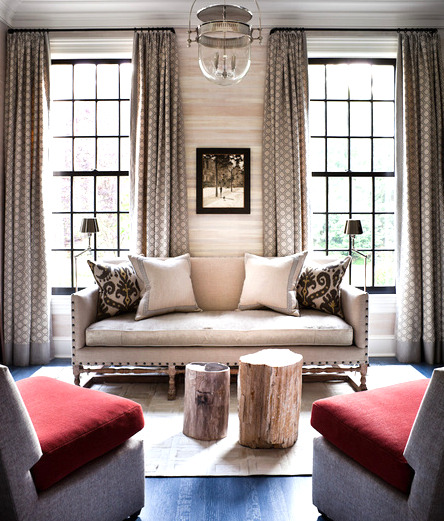 Nice balance! Decorated by Thom Filicia