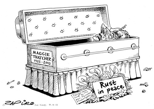 Cartoonists, including South Africa's Zapiro, pay their own kind of homage to Margaret Thatcher.