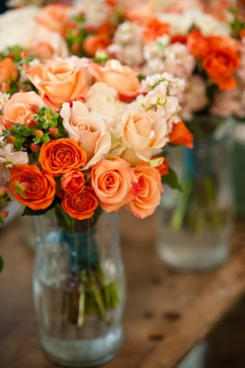 heartdeeperthanthebrand:  litvanilla:  Orange flowers are probably my favorite and purple comes second  If I could put a wide eyed face I would! My favorite are the yellow orange mix, then purple next! :D