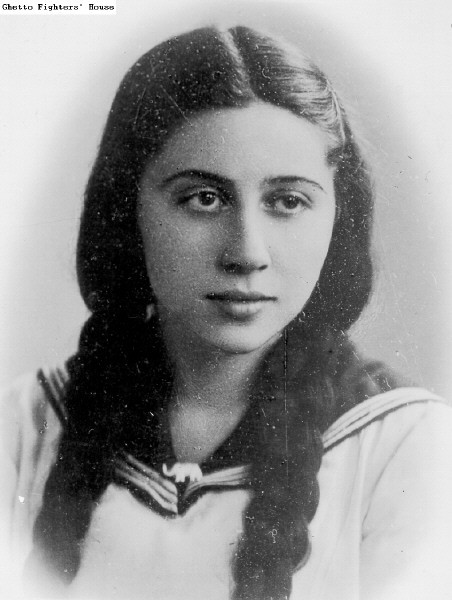 "Niuta Tajtelbaum as a schoolgirl in 1936, when she was already a member of a communist cell. During the German occupation of Poland she became feared by the Nazis as Wanda, the girl with the long blonde braids. Her youthful, innocent attitude, combined with her blonde ""norse"" hair made her predestined for daring actions: One time she went straight into some high-ranked German official's heavy guarded office, shooting the Nazi right there and getting out unnoticed, the next time she's killing a Gestapo-Officer in his own bed. She was also involved in multiple raids and sabotage-actions against the German war machine. When the Warsaw Ghetto Uprising started, she led a group of communist resistance fighters. Her Unit fought bravely at Krasinski Square and knocked out a German machine-gun nest, as well as an SS artillery stand. After the destruction of the Ghetto she managed to get out and into a hiding place, but two months after the fightings the Gestapo captured her. She was tortured to death by the Germans, not betraying one of her comrades nor giving the Nazis any information at all."