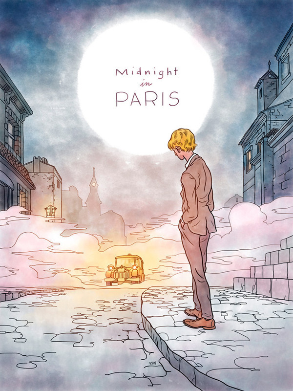 moviepostersilove:  Midnight in Paris| by Kyle T. Webster