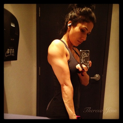 #triceps #progress One day at a time. By August 24th, 2013 my triceps will be more defined and stronger. #goal #wbff #proshowdebut #fitness #training #muscle