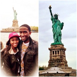 Statue of Liberty 🚤🗽 with the Mrs. @kourtjack90