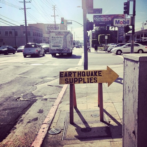 Sweet. Problem solved. #losangeles #earthquake #la #street  (at California Surplus Market)