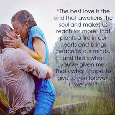 Such a beautiful quote. #thenotebook #allie #noah #love #beautiful #quote.  @mattymeyers89 🙊😁❤😘👌😍🌍
