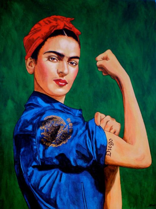 tortillapower:  remezclab:  Frida the Riveter II by Maria Kane