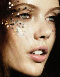 "> Frida Gustavsson in ""Seeing Stars"" for Vogue UK December 2010 photographed by Lachlan Bailey"