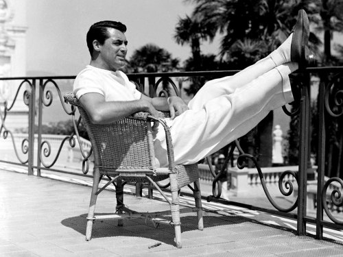 Man and his summer loafers.— Cary Grant