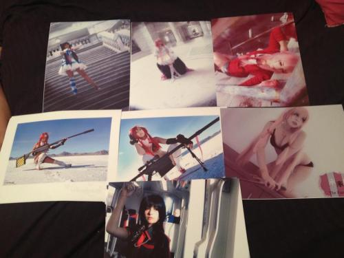 hon3yhanak0:  These are the prints I have for sale! Stocking Anarchy Madoka Kaname ( Godoka )Yuno Gasai ( two versions)Yoko Littner ( two versions)Saya OtonashiI also will be glad to make prints of any other photos you would like! Please send me a request via facebook! https://www.facebook.com/Hon3yHanak0Thank you all so much. If I can reach my wish and attend AX this year and be with my family and friends, I will owe all of you big time. This means so much to me and I am so glad to have fans and friends to help me when times are hard. I love you all so much!!!! <3