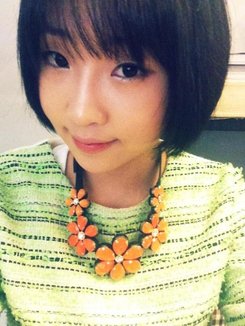 "130519 MINZY TWITTER UPDATE  ""I like sweet Spring^^# They say that Spring becomes sweeter when music is played during rainfall..""  Source: Minzy's TwitterTranslated by: Stacey@EROMAKNAE"
