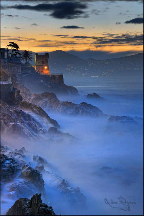 landscapelifescape:  Genoa, Italy enchanted waves (by Andras Gyorosi)