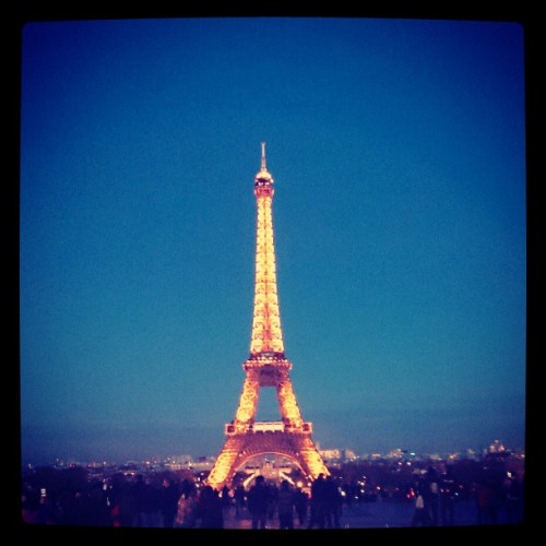 #Eiffel tower. Fabulous night!