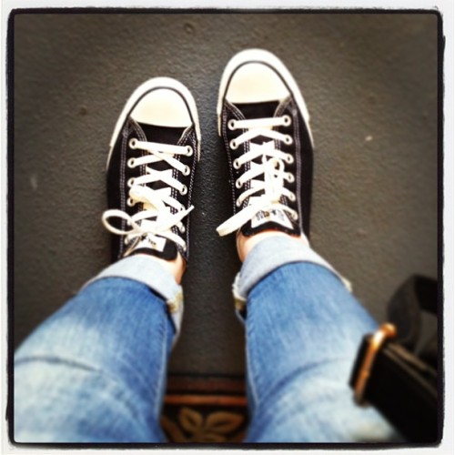 New black converse. ❤ I think it's been about 6 years since I bought a a new pair of them.  #new #brandnew #black #chucks #converse #yay #classic #love #fromwhereistand #shopping