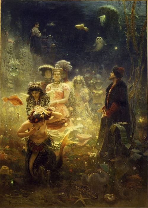 "nikoznate:  Садко ""Sadko in the Underwater Kingdom"" Ilya Efimovich Repin (Илья Ефимович Репин) 1844 - 1930"
