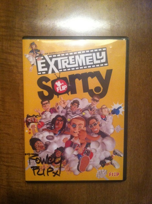 I'm selling my Geoff Rowley autographed copy of Extremely Sorry. Message me for details.