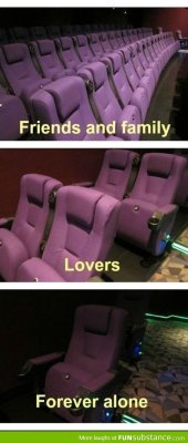 everysweetthing17:  Movie theater seats - FunSubstance.com on We Heart It. http://weheartit.com/entry/62063593/via/easd