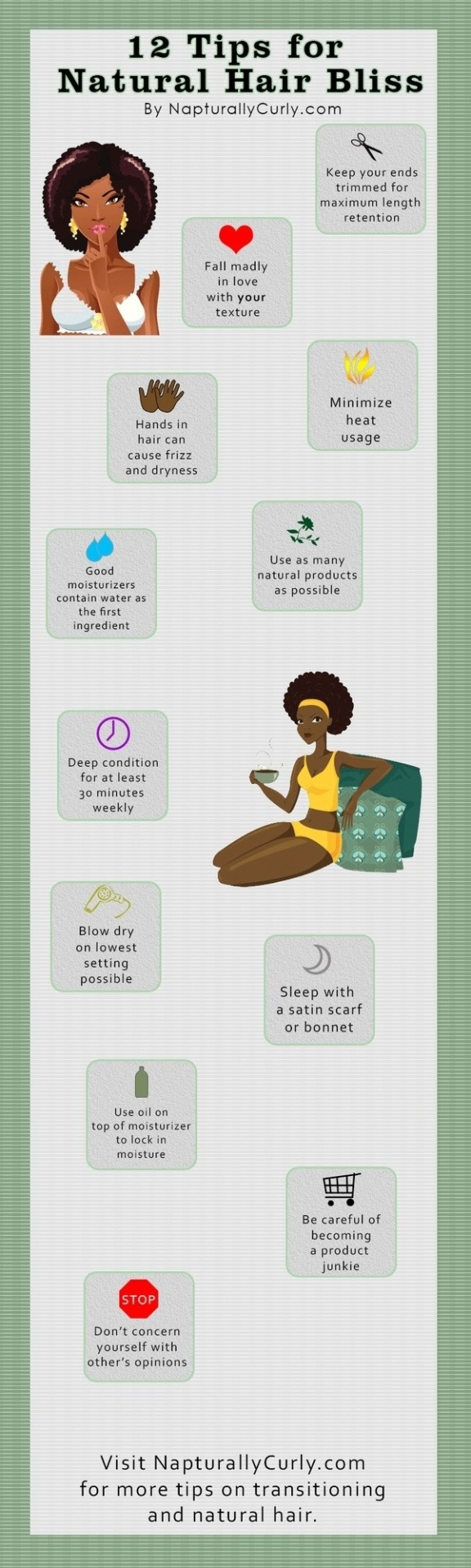 mysydneylife:  12 Tips for Natural Hair Bliss Via Naturallycurly.comView Post