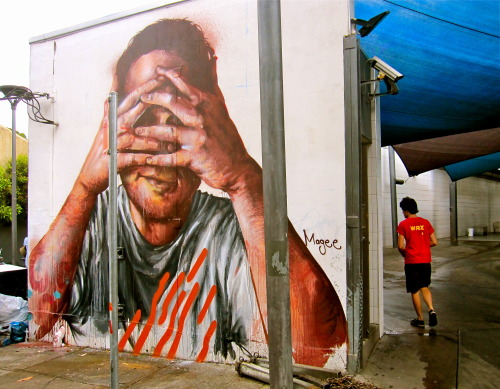 Latest piece by Fintan Magee in Redfern, Sydney (March 2013) Photo by: Baddogwhiskas http://www.flickr.com/photos/22179952@N00/