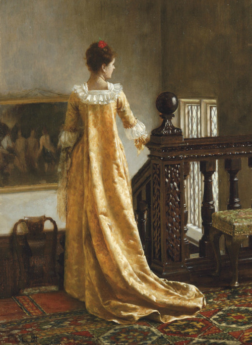 monsieurleprince:  Edmund Blair Leighton (1853 - 1922) - The golden train, 1891
