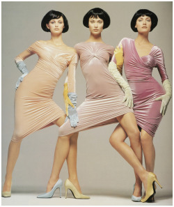 Trish, Shalom and Amber for Versace, by Richard Avedon, 1995
